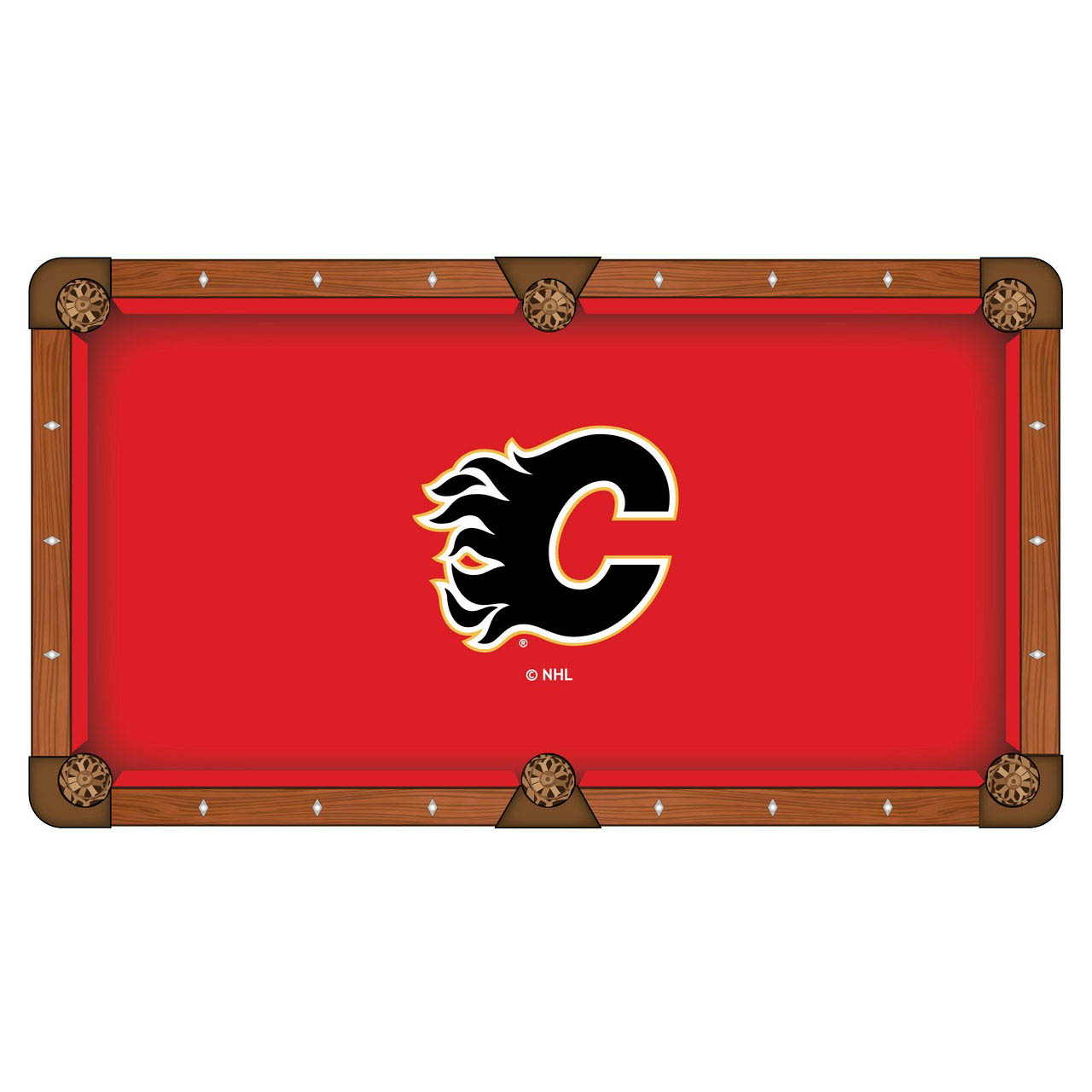Serious Calgary Flames Pool Table Cloth Product Photo