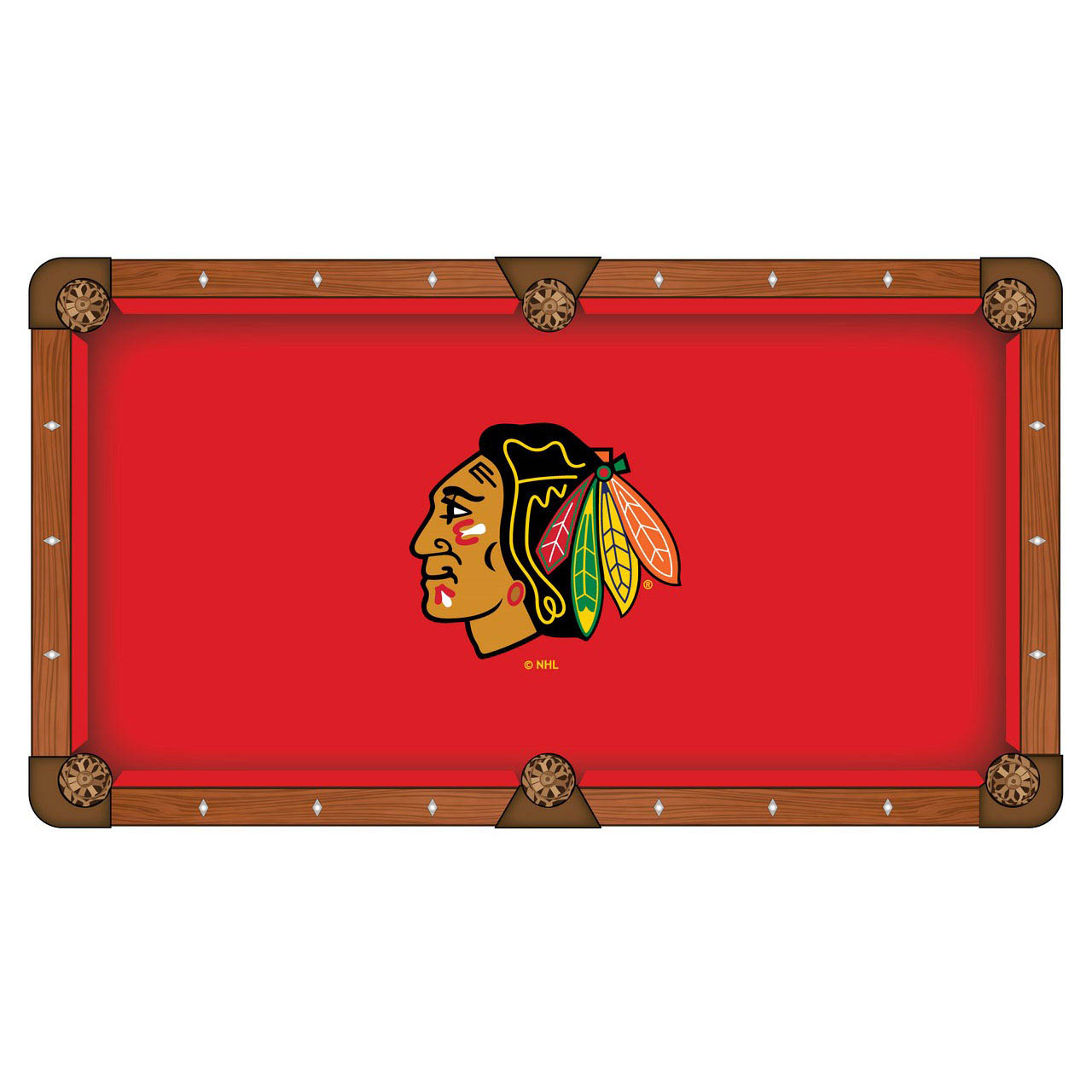 Design Chicago hawks Pool Table Cloth Product Photo