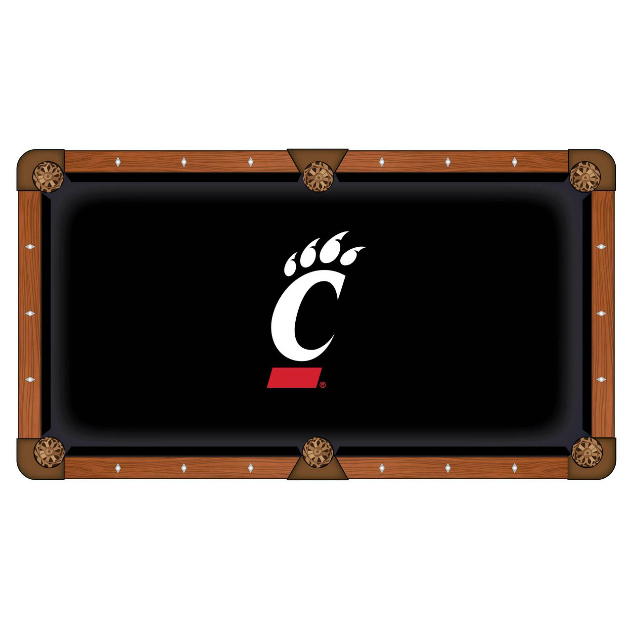 Choose University Cincinnati Pool Table Cloth 1 1404