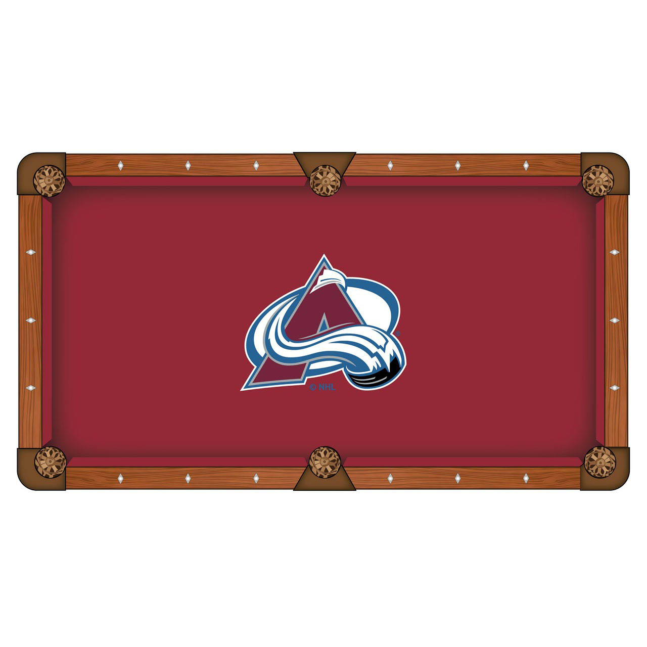 Reliable Colorado Avalanche Pool Table Cloth Product Photo