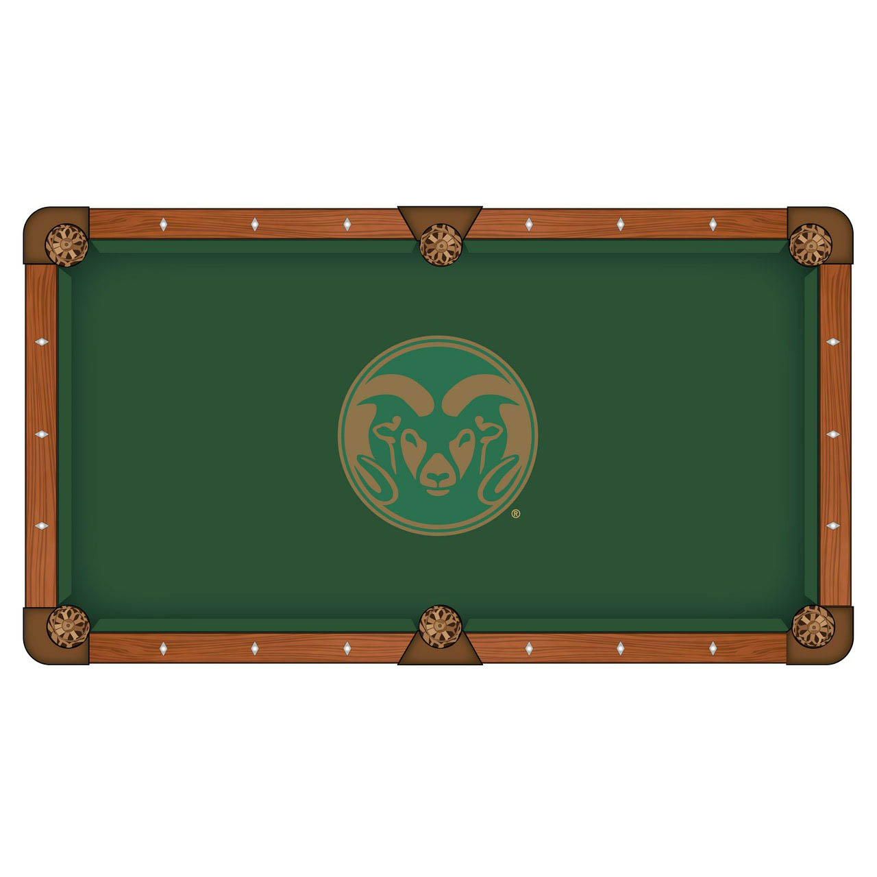 Trustworthy Colorado State University Pool Table Cloth Product Photo