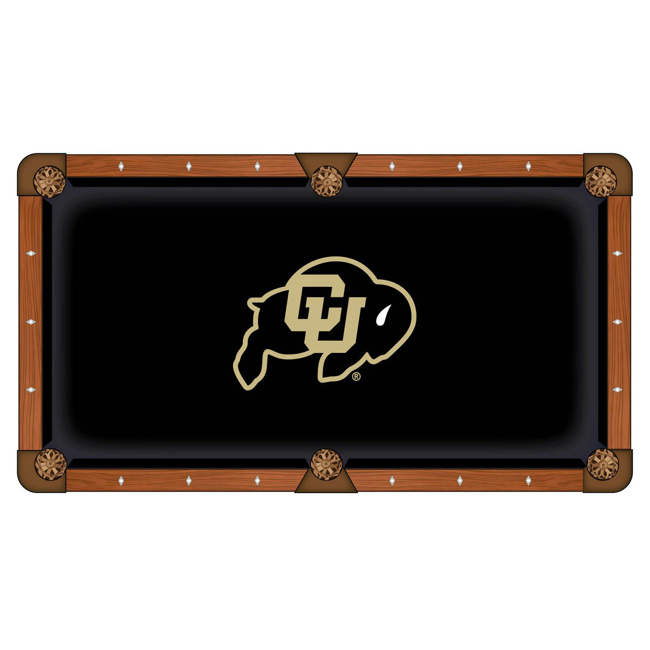 Tasteful University Colorado Pool Table Cloth Product Photo