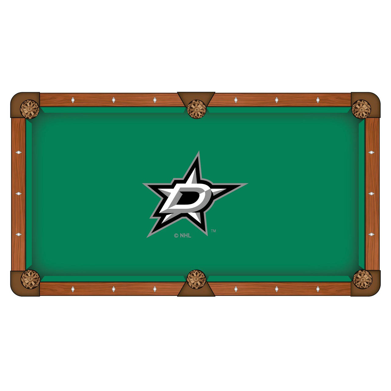Excellent Dallas Stars Pool Table Cloth Product Photo