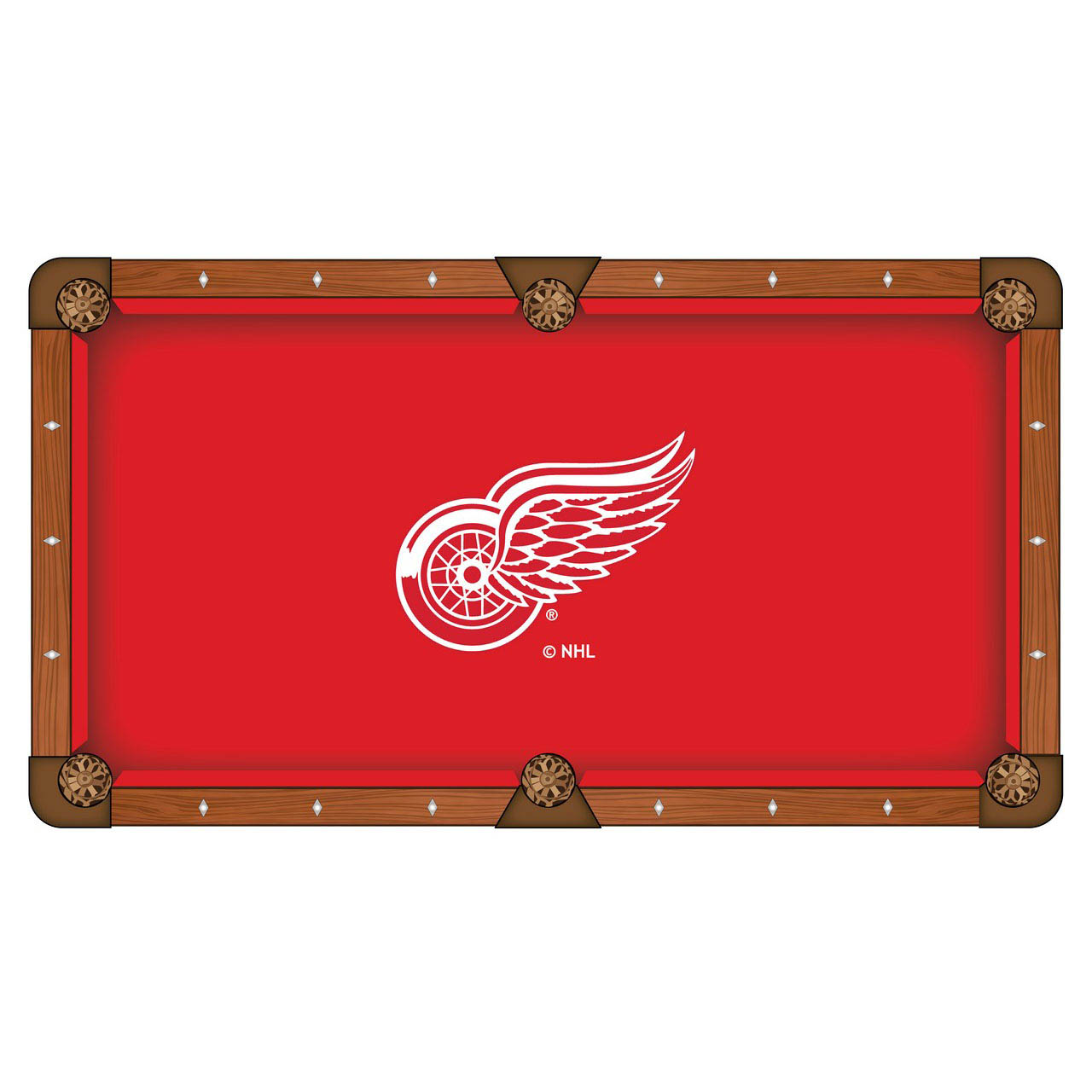 Valuable Detroit Wings Pool Table Cloth Product Photo