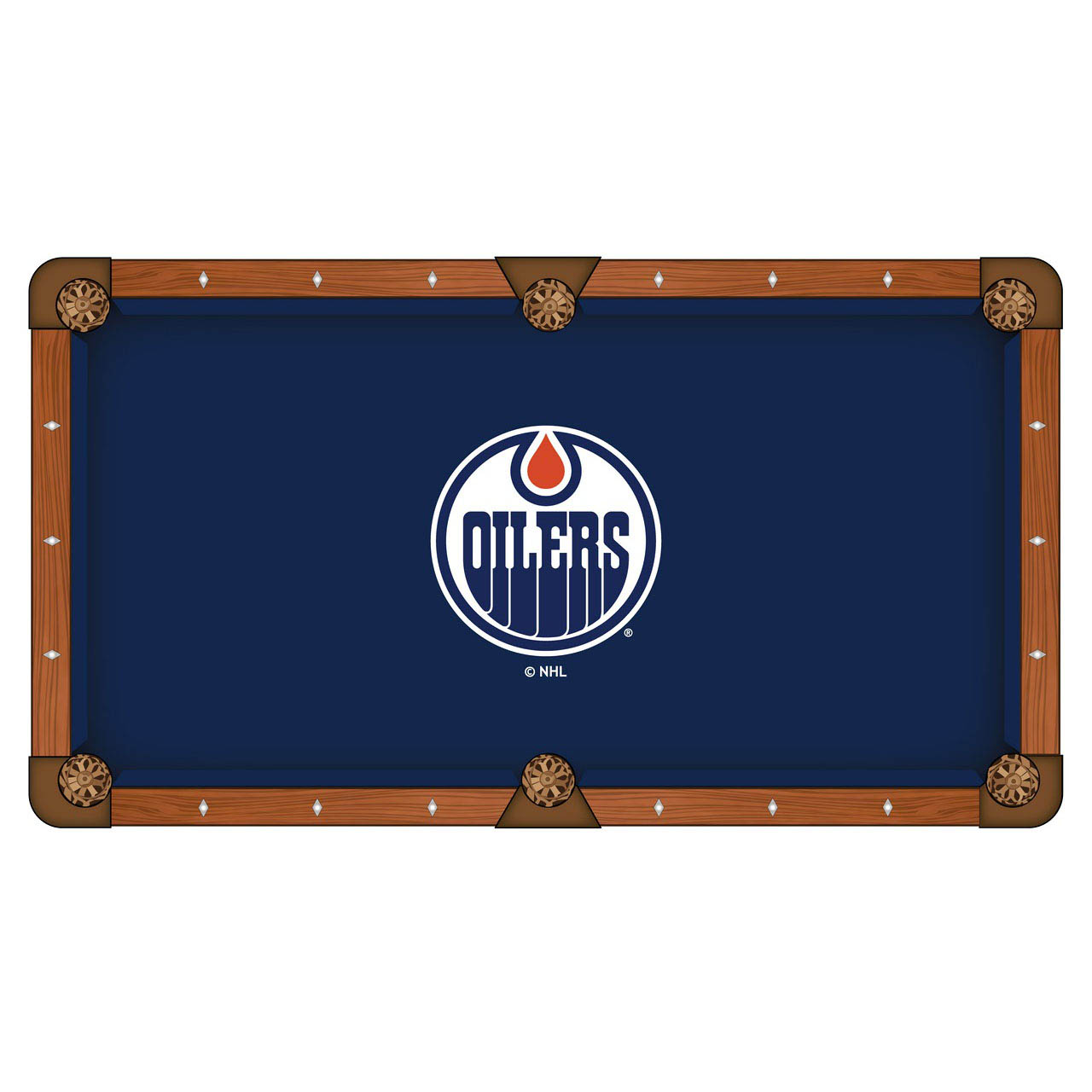Check out the Edmonton Oilers Pool Table Cloth Product Photo