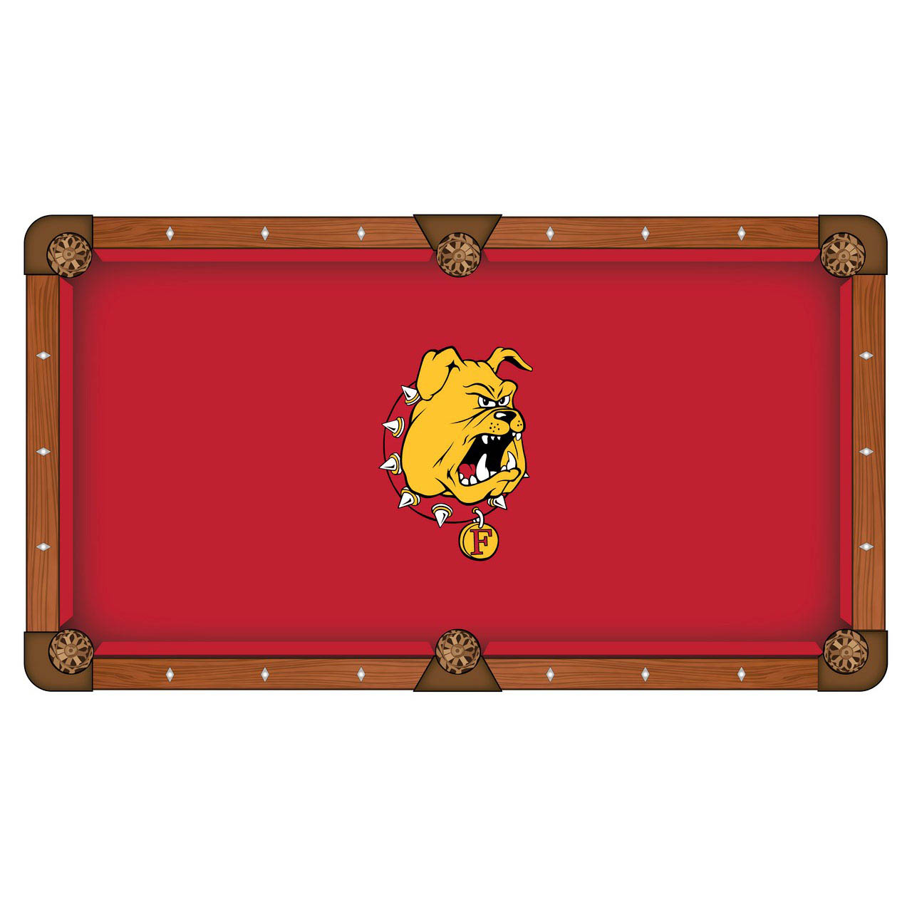 Optimal Ferris State University Pool Table Cloth Product Photo