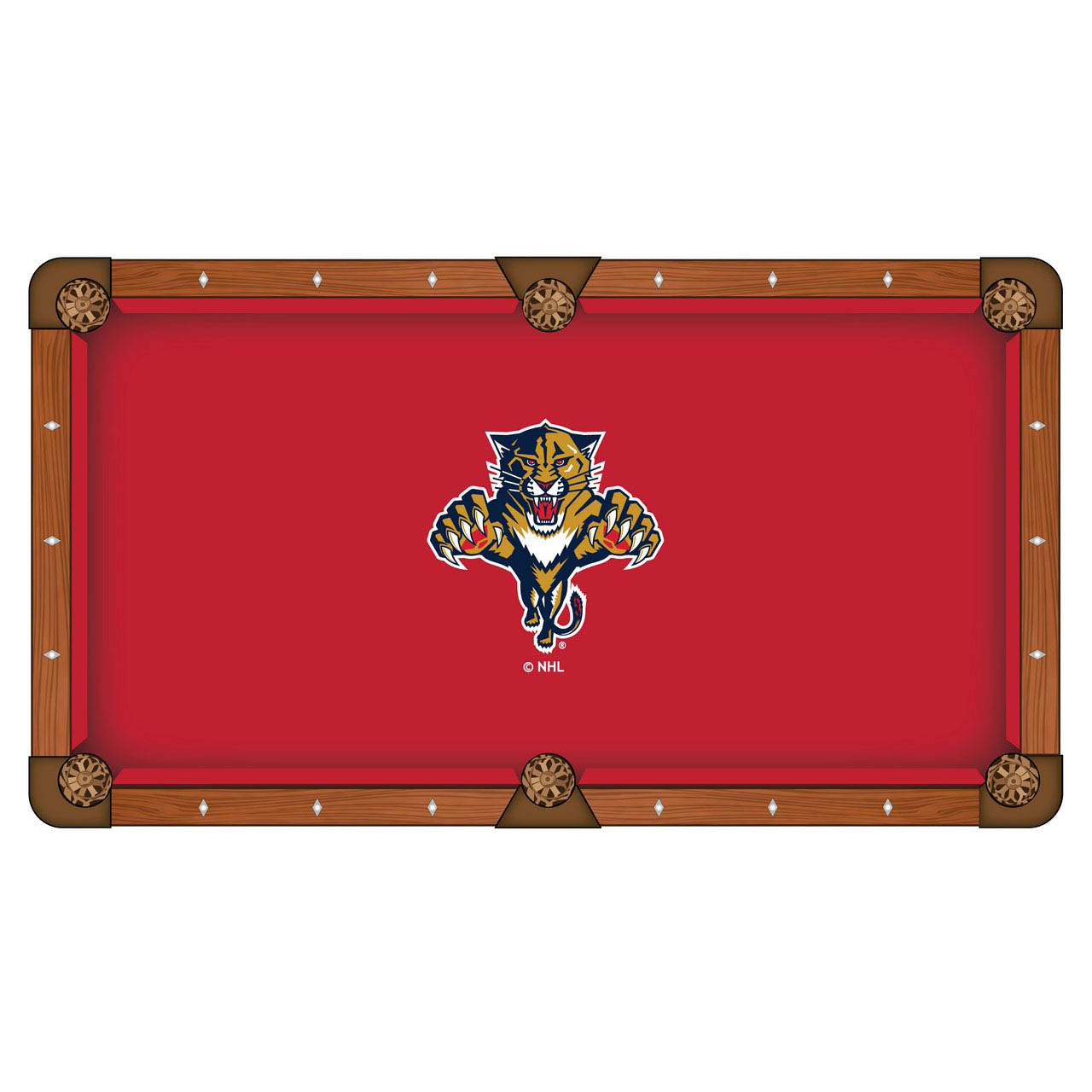 Magnificent Florida Panthers Pool Table Cloth Product Photo
