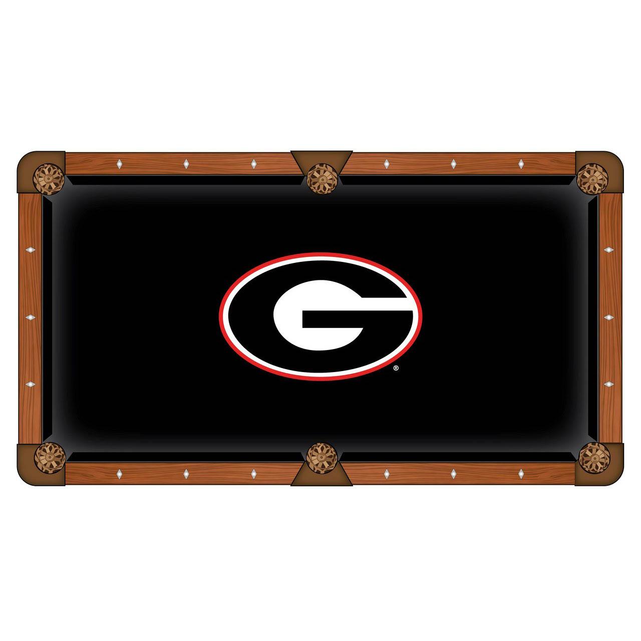 Superb University Georgia Logo Pool Table Cloth Product Photo