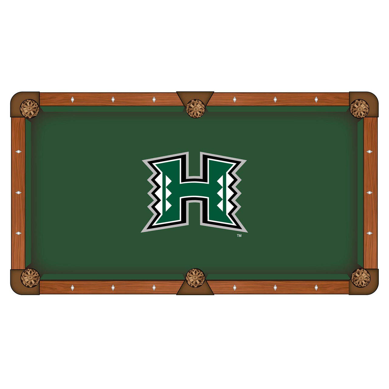 Superb-quality University Hawaii Pool Table Cloth Product Photo