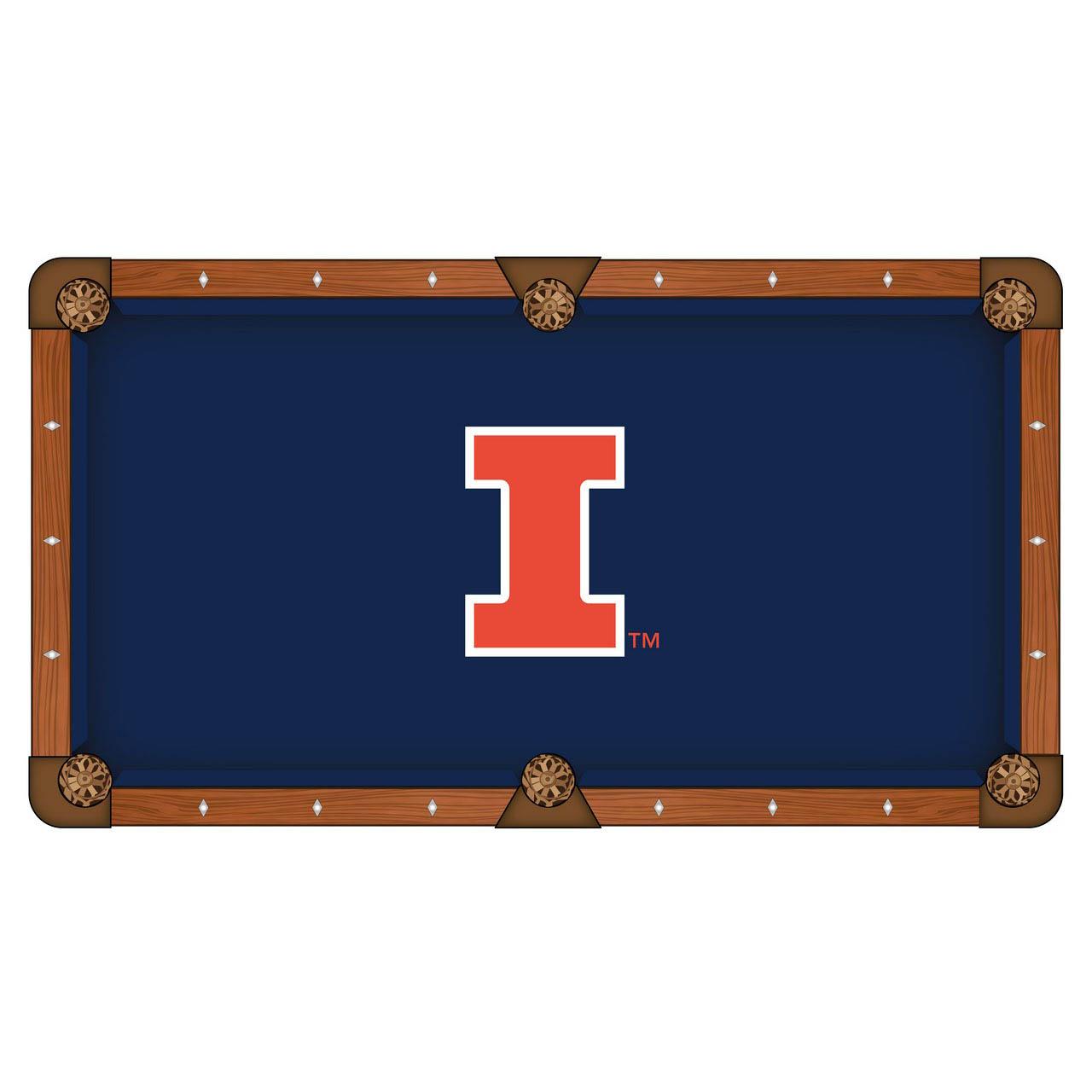 Serious University Illinois Pool Table Cloth Product Photo