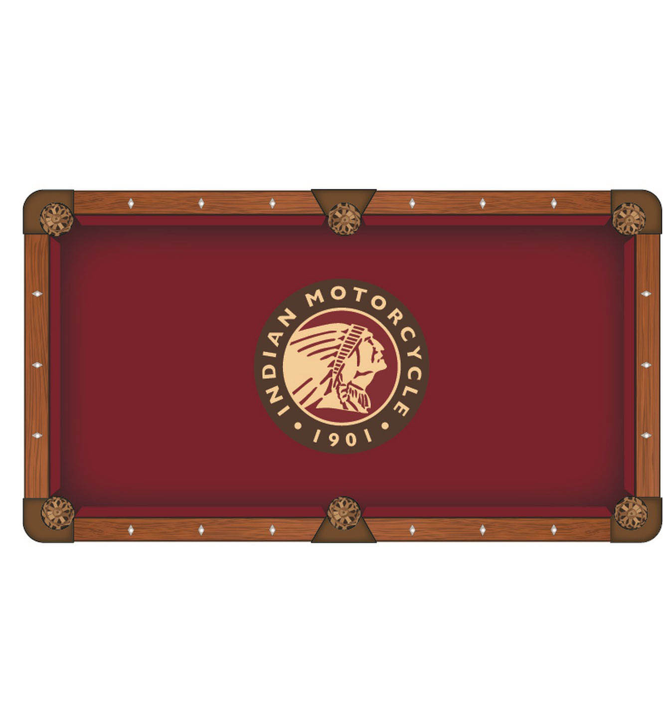 Purchase Indian Motorcycle Pool Table Cloth Product Photo