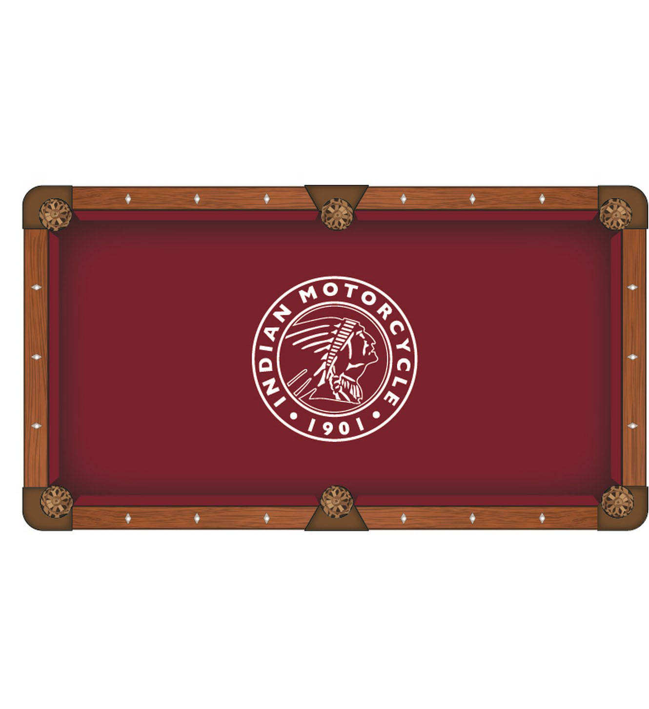 Buy Indian Motorcycle Outline Pool Table Cloth Product Photo