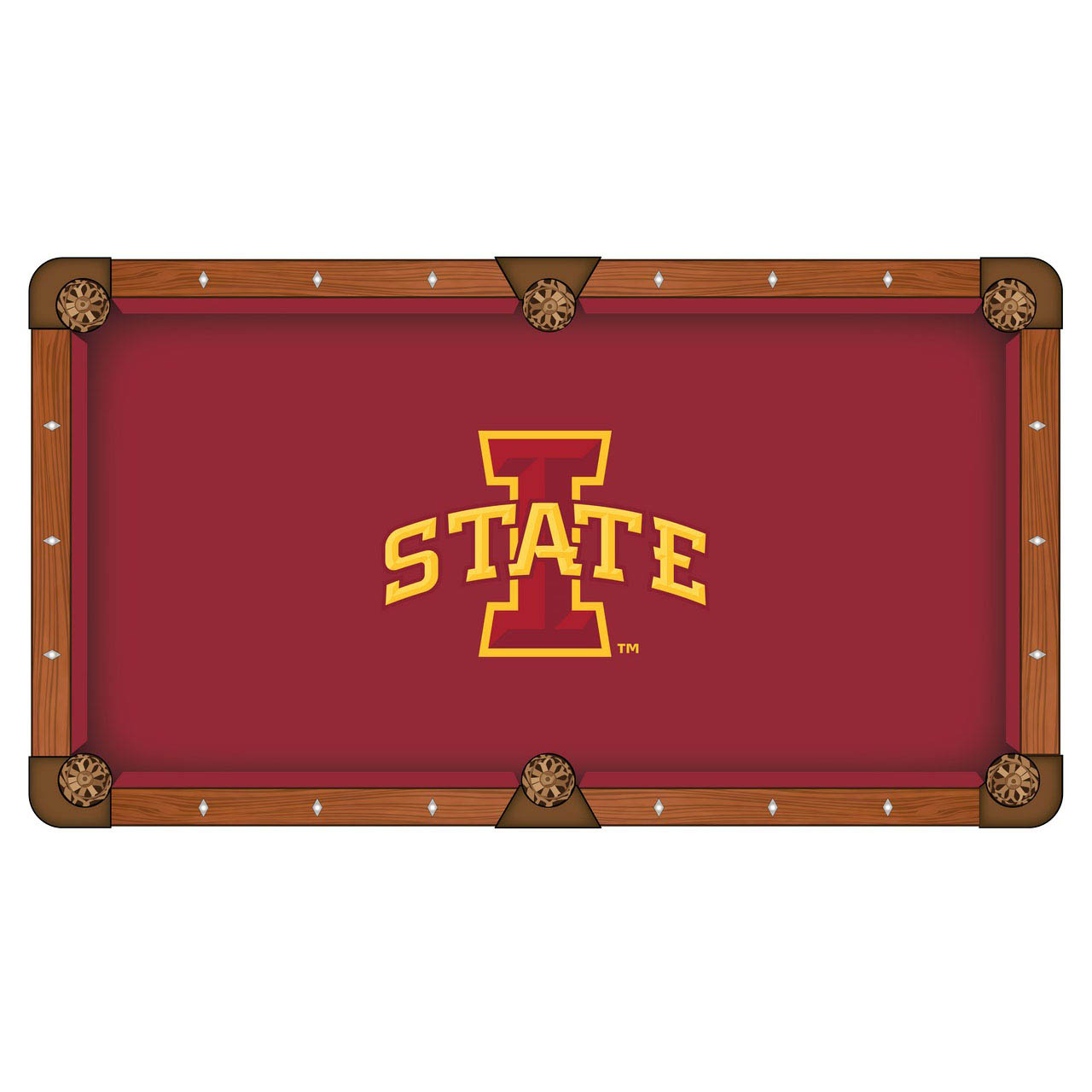 Choose Iowa State University Pool Table Cloth Product Photo