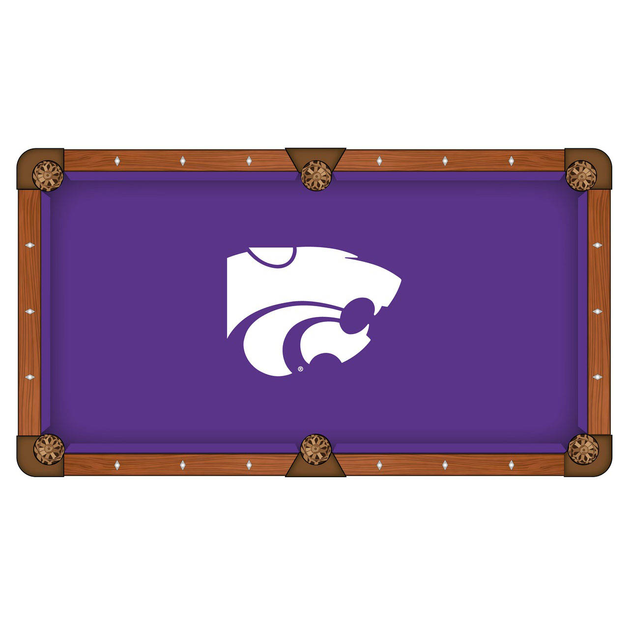 Order Kansas State University Pool Table Cloth Product Photo