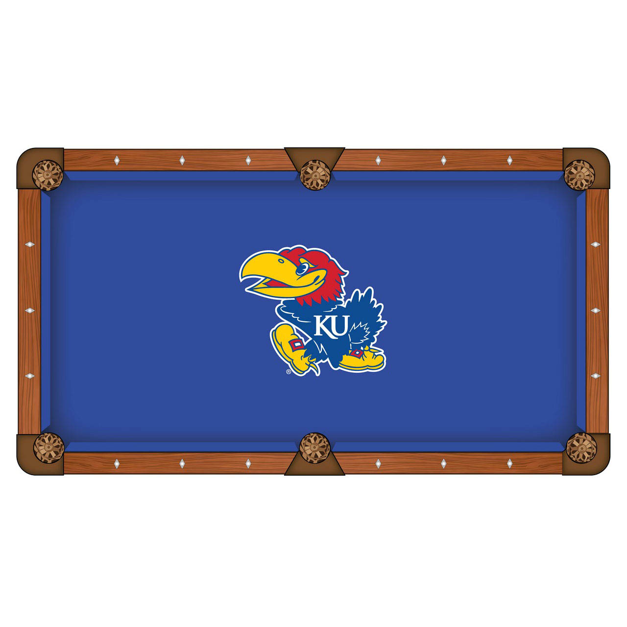 Money saving University Kansas Pool Table Cloth Product Photo