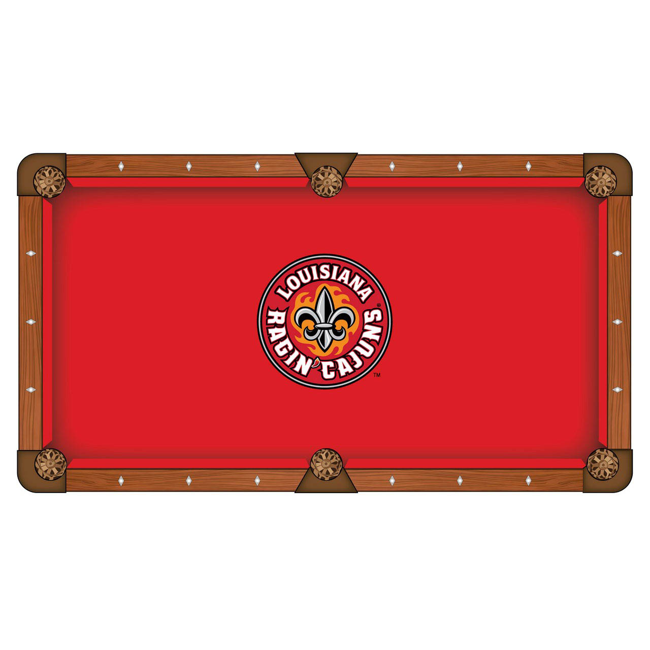 Remarkable University Louisiana At Lafayette Pool Table Cloth Product Photo