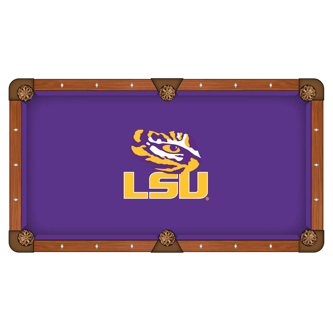 User friendly Louisiana State University Pool Table Cloth Product Photo