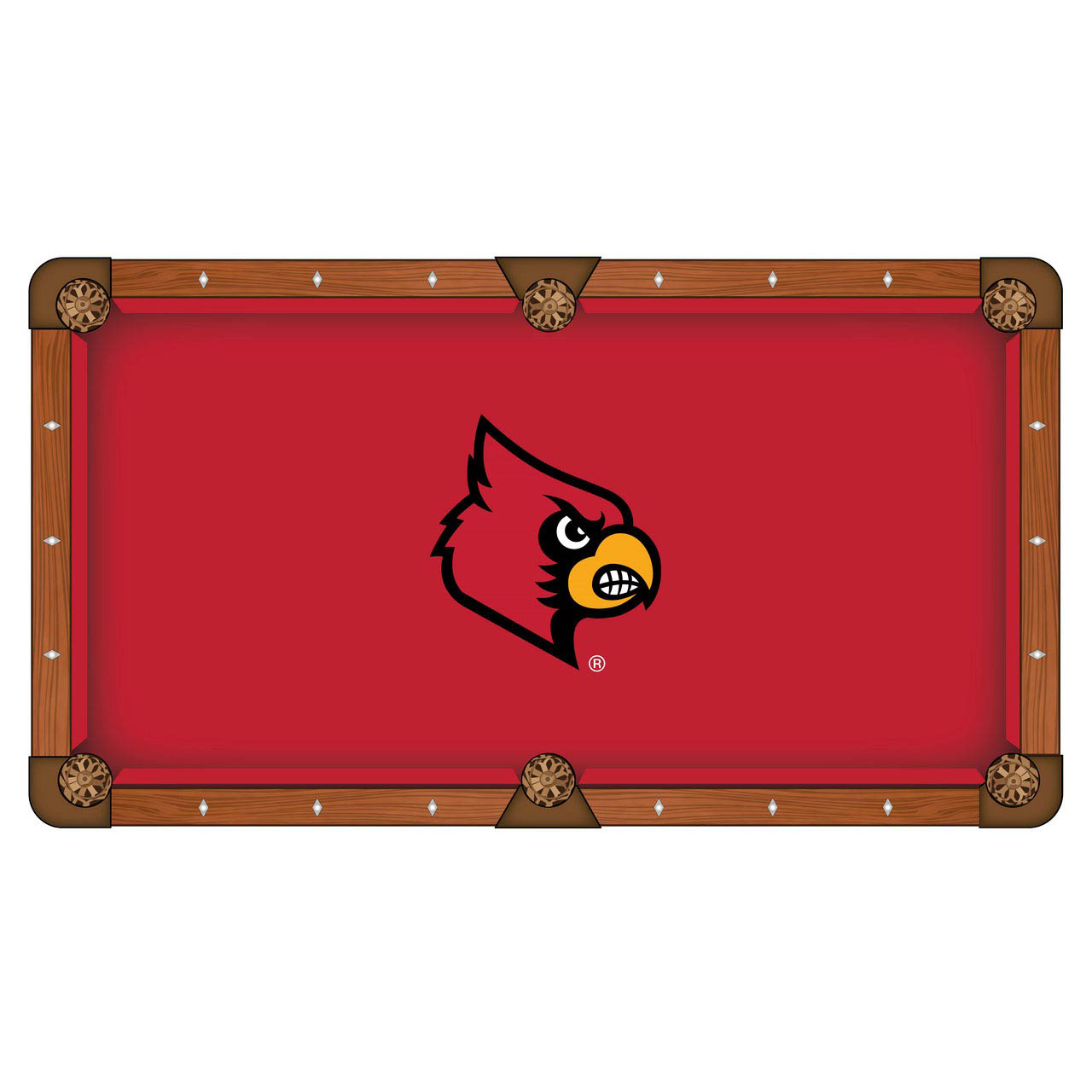 Choose University Louisville Pool Table Cloth Product Photo
