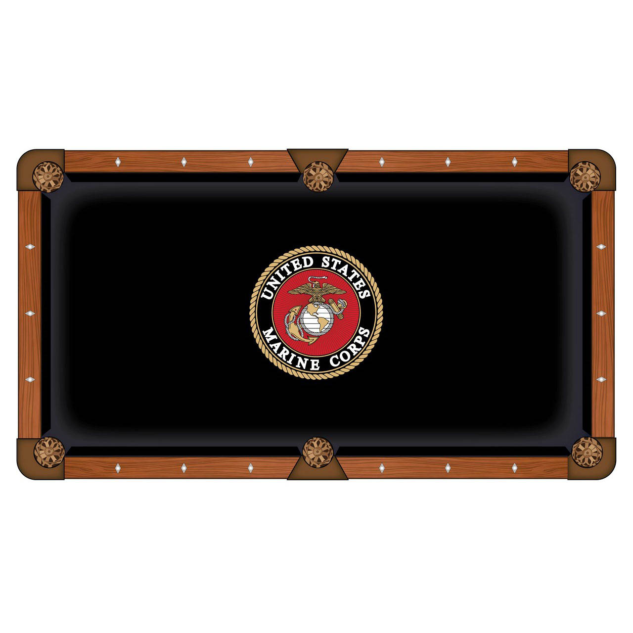 Stunning United-States-Marine-Corps-Pool-Table-Cloth Product Picture 578