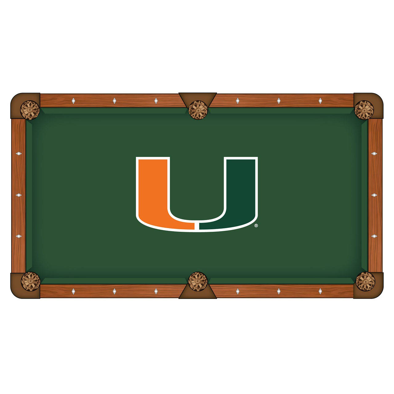 Ultimate University Miami Pool Table Cloth Product Photo