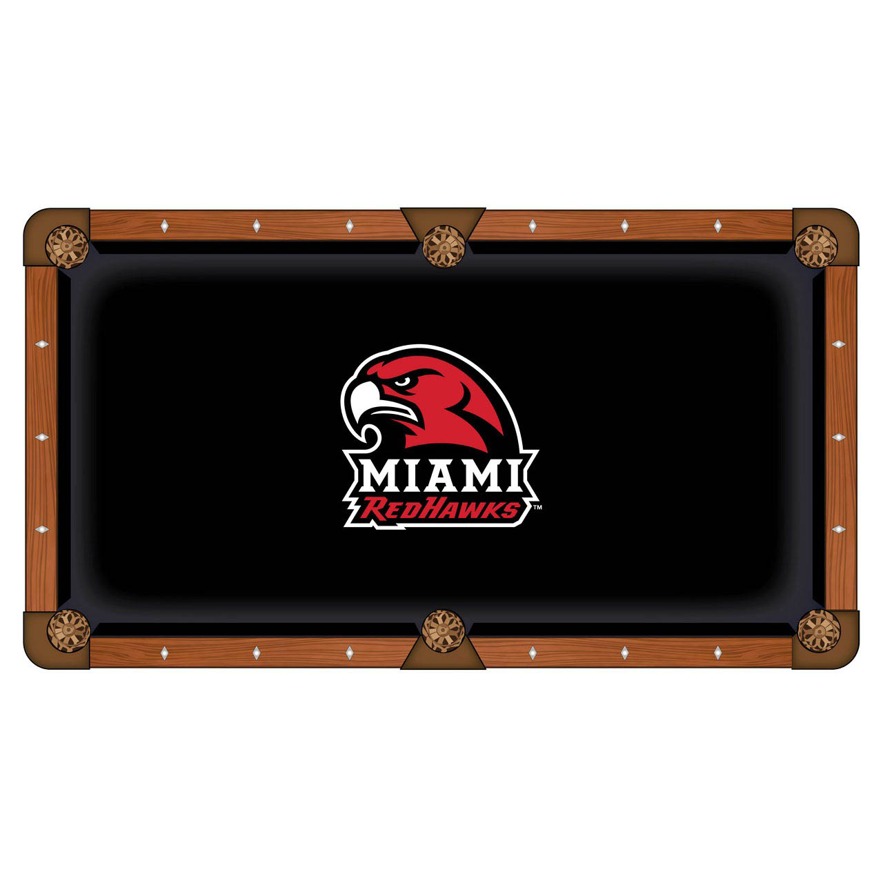 Stunning Miami University Ohio Pool Table Cloth Product Photo