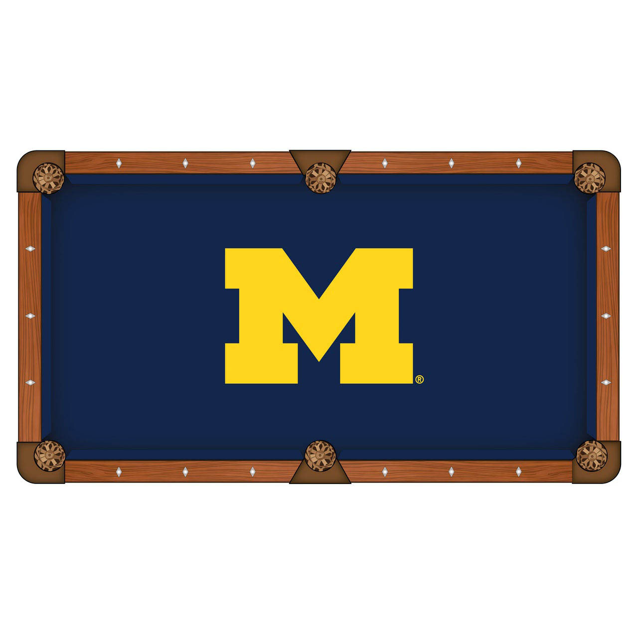Learn more about University Michigan Pool Table Cloth Product Photo