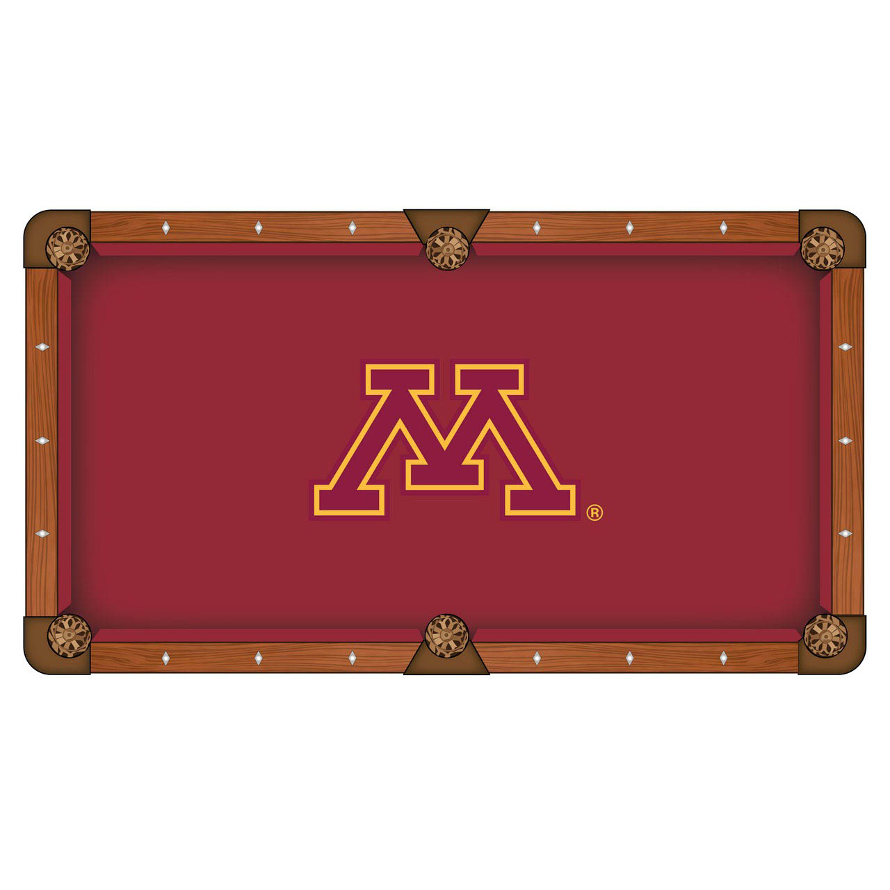 Exquisite University Minnesota Pool Table Cloth Product Photo