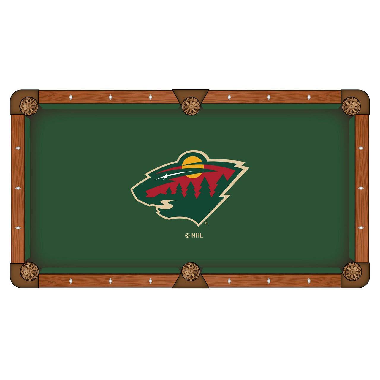 Amazing Minnesota Wild Pool Table Cloth Product Photo