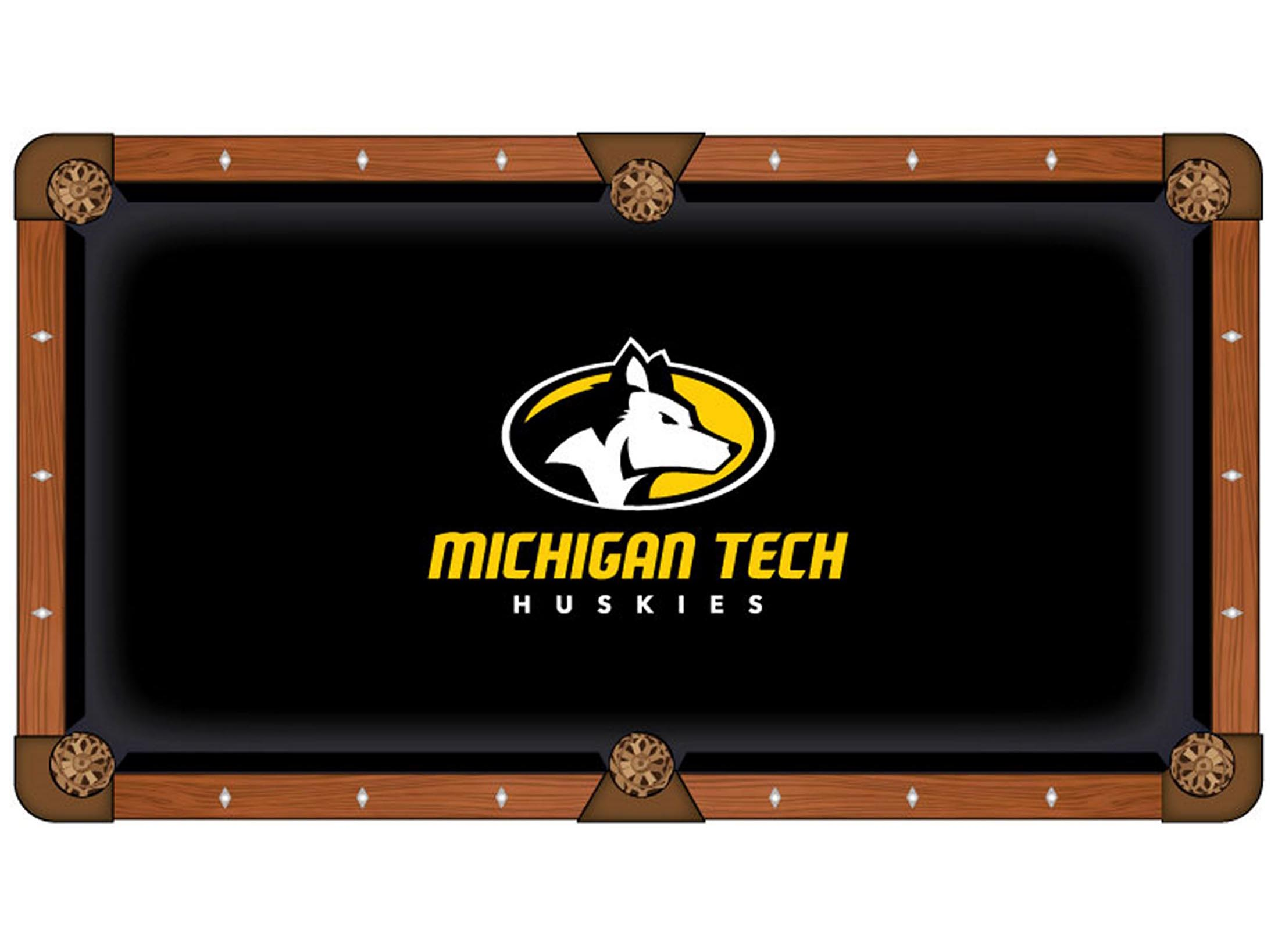 Stylish Michigan Tech University Pool Table Cloth Product Photo