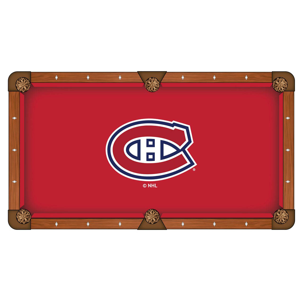 Affordable Montreal Canadiens Pool Table Cloth Product Photo