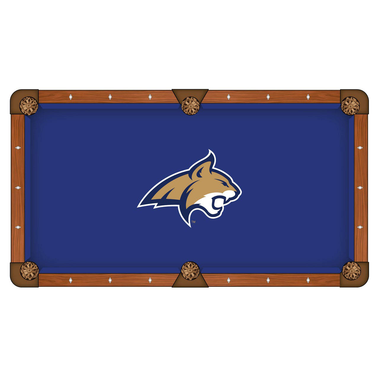 Tasteful Montana State University Pool Table Cloth Product Photo