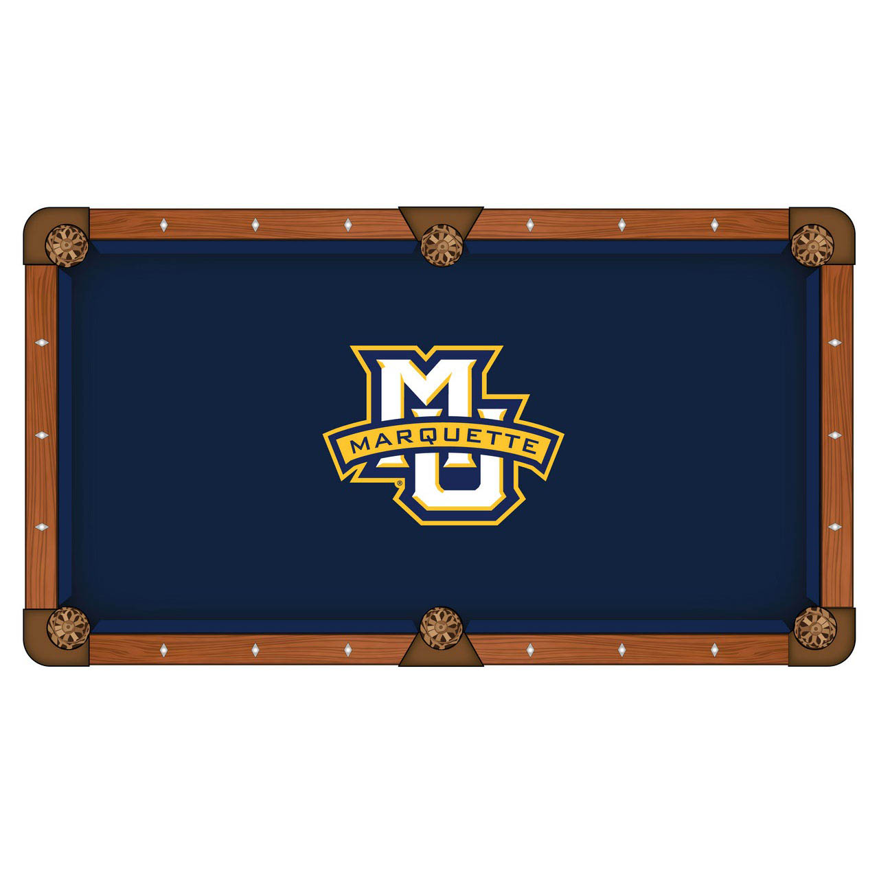Ultimate Marquette University Pool Table Cloth Product Photo