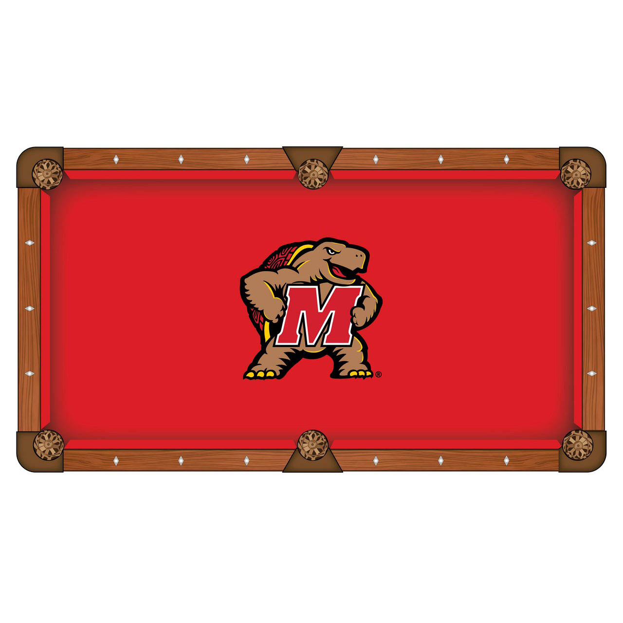 Cheap University Maryland Pool Table Cloth 24 1190