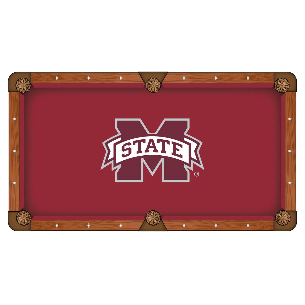 Exquisite Mississippi State University Pool Table Cloth Product Photo