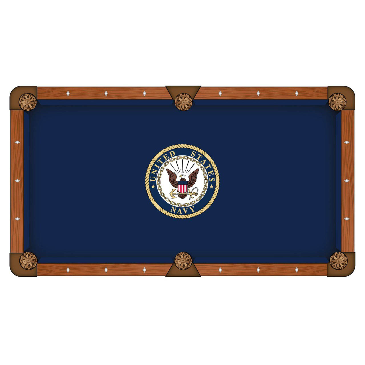 Info about United States Navy Pool Table Cloth Product Photo