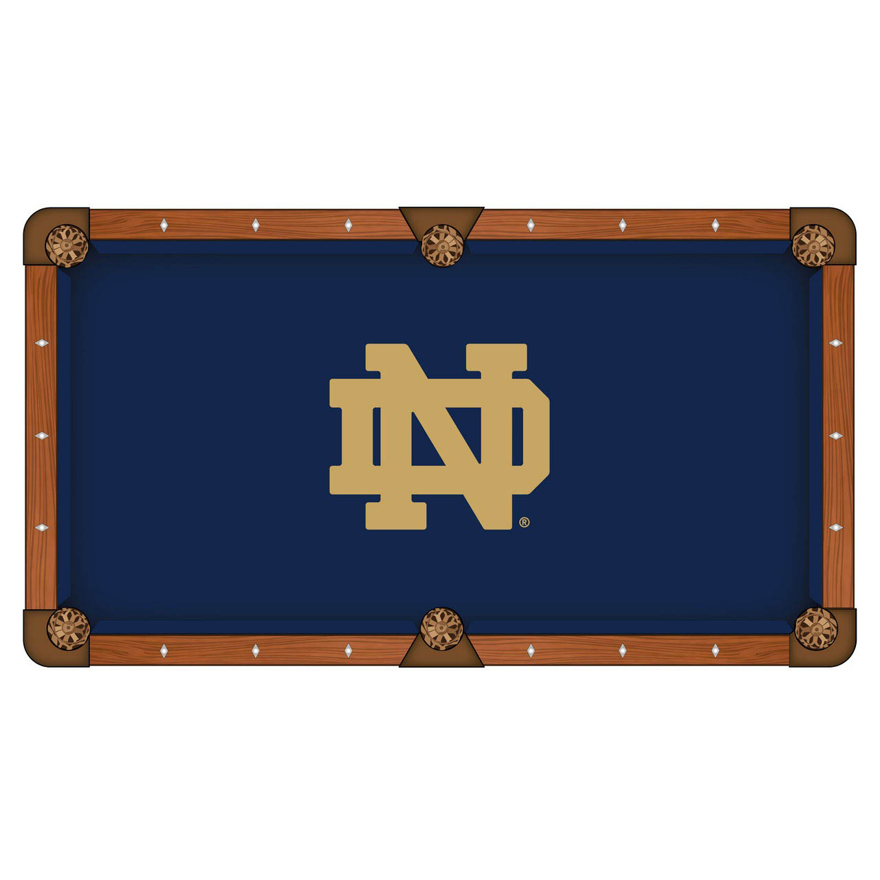 Remarkable Notre Dame Pool Table Cloth Product Photo