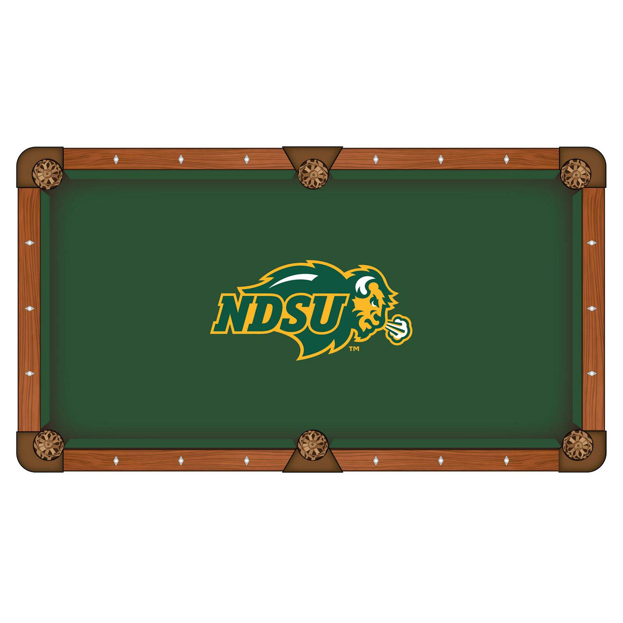 Impressive North Dakota State University Pool Table Cloth Product Photo