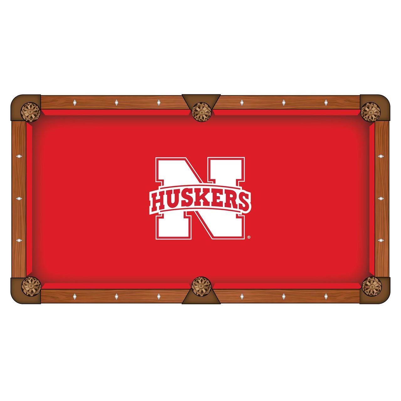 Superb University Nebraska Pool Table Cloth Product Photo