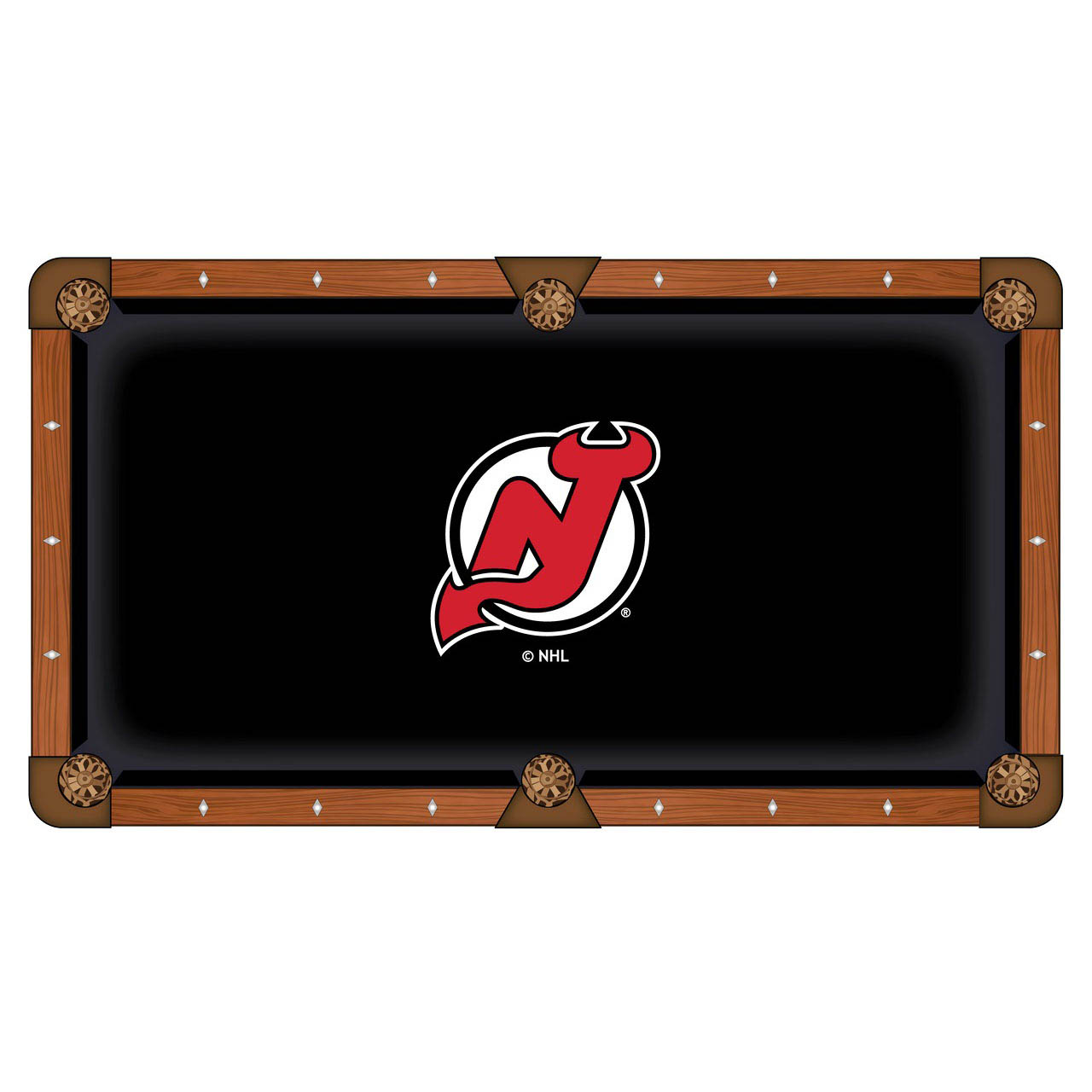 Superb New Jersey Devils Pool Table Cloth Product Photo