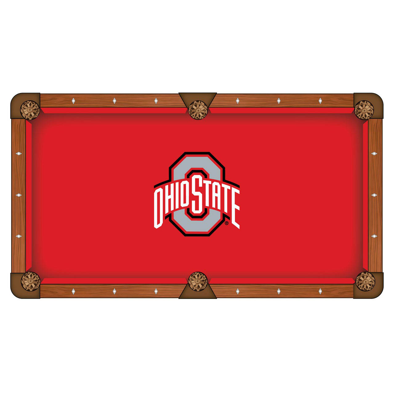 Reliable Ohio State University Pool Table Cloth Product Photo