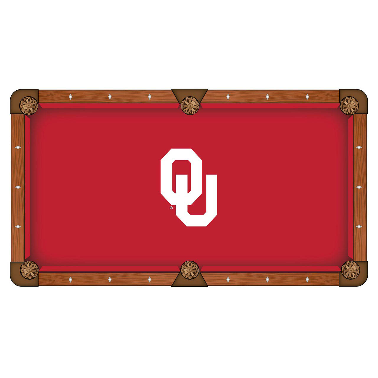 Outstanding Oklahoma University Pool Table Cloth Product Photo