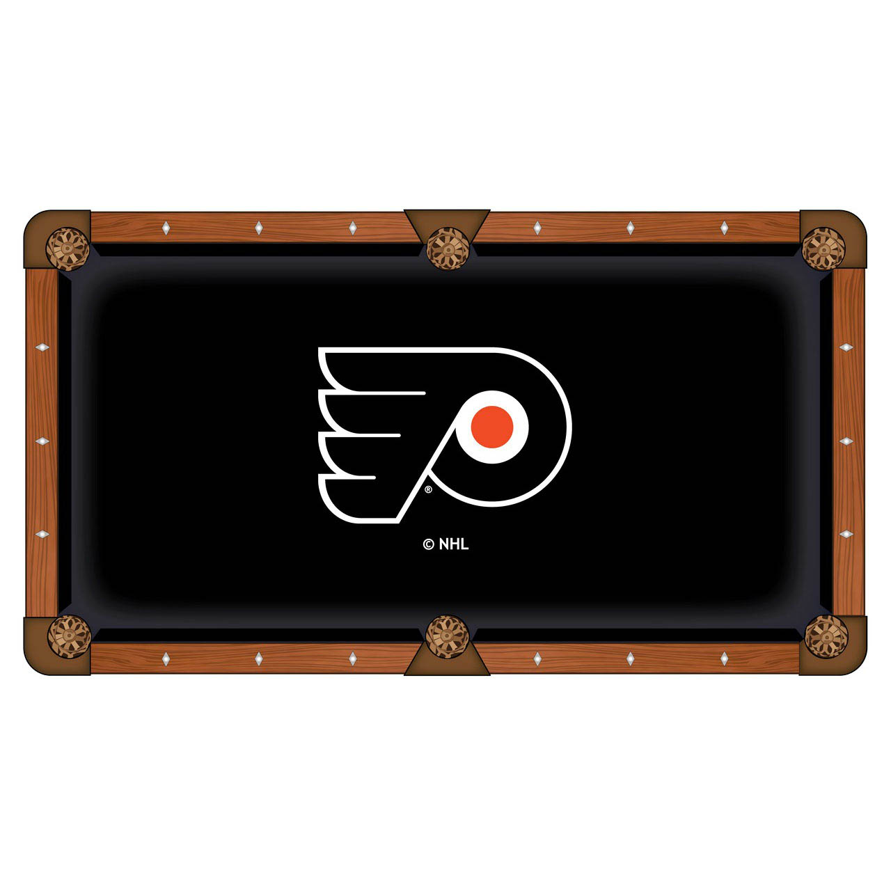 Valuable Philadelphia Flyers Pool Table Cloth Product Photo