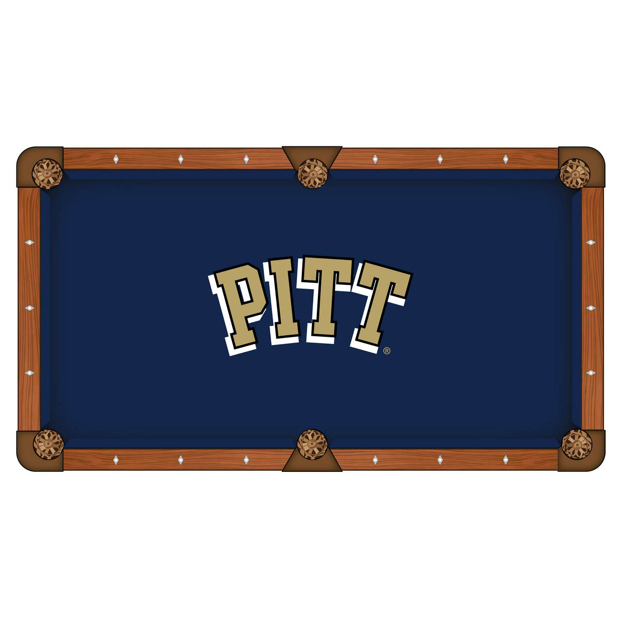 Choose University Pittsburgh Pool Table Cloth 17 512