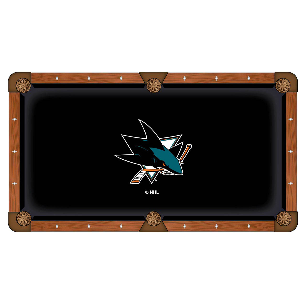 View San Jose Sharks Pool Table Cloth Product Photo