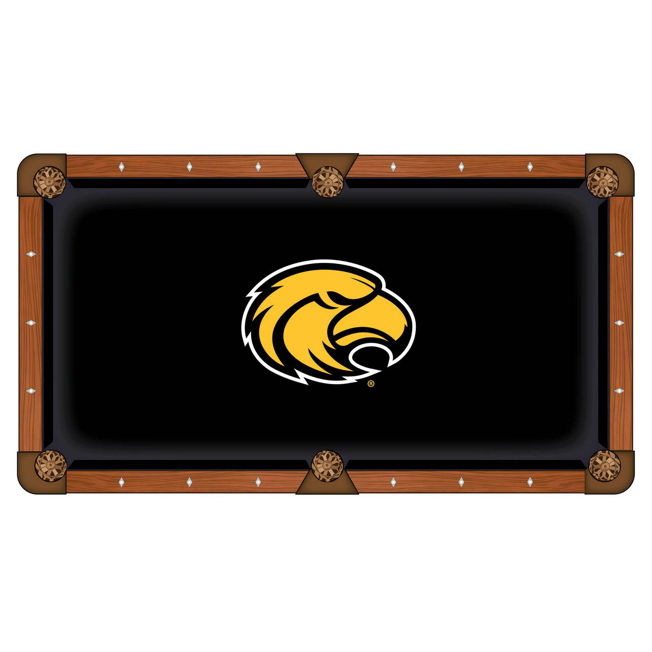 Choose University Southern Mississippi Pool Table Cloth 3 2134