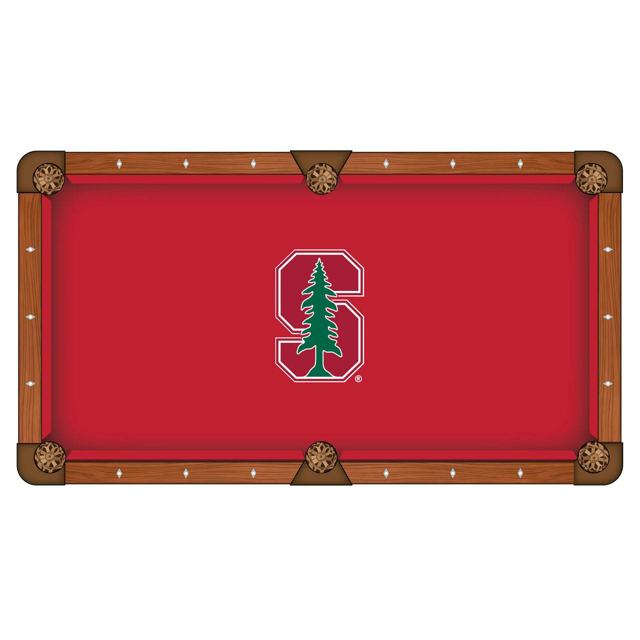 Beautiful Stanford University Pool Table Cloth Product Photo