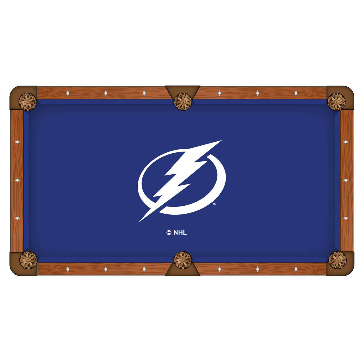 Wonderful Tampa Bay Lightning Pool Table Cloth Product Photo