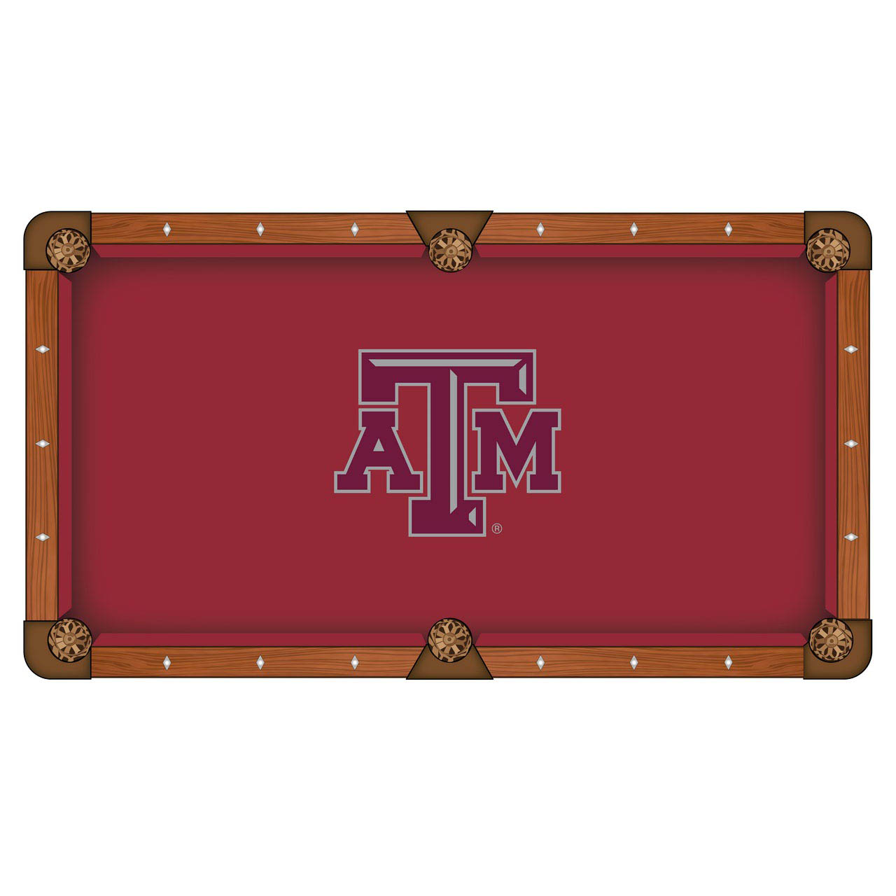 Longstanding Texas A Pool Table Cloth Product Photo