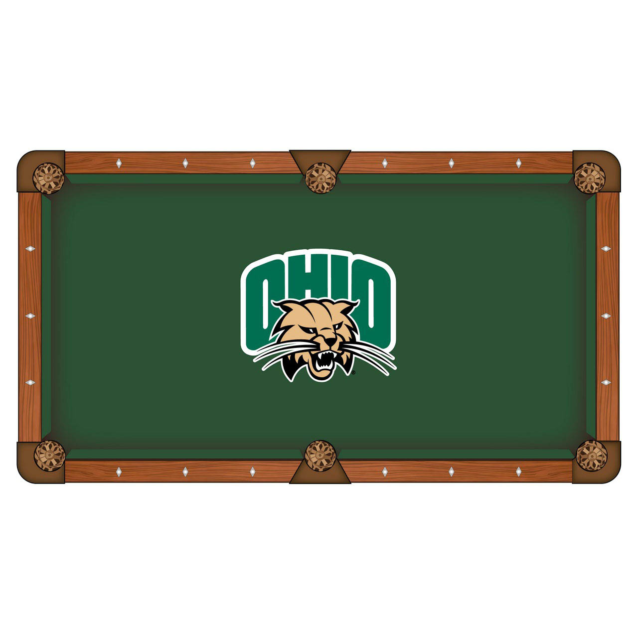 Trustworthy Ohio University Pool Table Cloth Product Photo