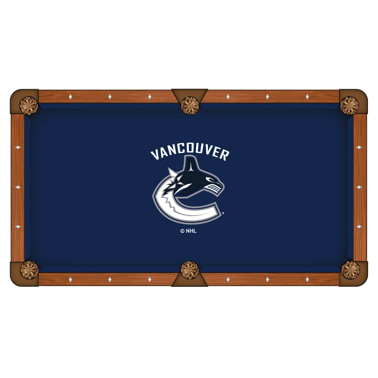 High-class Vancouver Canucks Pool Table Cloth Product Photo